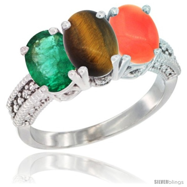 https://www.silverblings.com/8246-thickbox_default/10k-white-gold-natural-emerald-tiger-eye-coral-ring-3-stone-oval-7x5-mm-diamond-accent.jpg