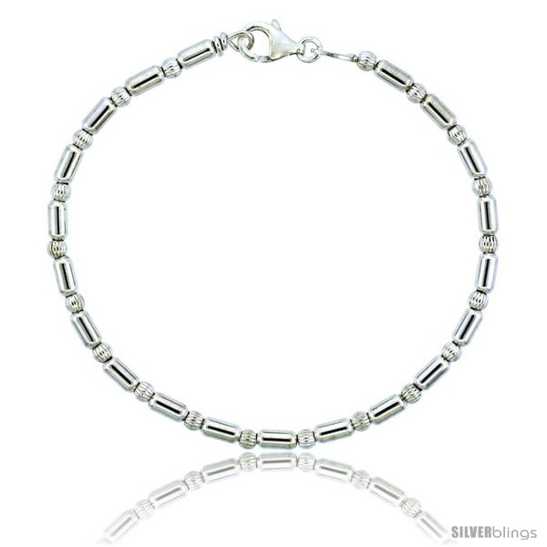 https://www.silverblings.com/82699-thickbox_default/sterling-silver-corrugated-elongated-bead-bracelet-1-8-in-3-mm-wide.jpg