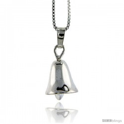 Sterling Silver Italian Bell Pendant. 9/16 in. High and about 3/8 in Thick.
