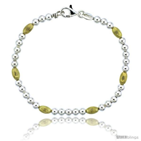 https://www.silverblings.com/82761-thickbox_default/sterling-silver-corrugated-bead-bracelet-w-gold-finish-3-16-in-4-mm-wide.jpg