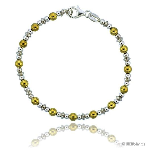 https://www.silverblings.com/82763-thickbox_default/sterling-silver-saucer-bead-bracelet-w-gold-finish-5-32-in-4-mm-wide.jpg