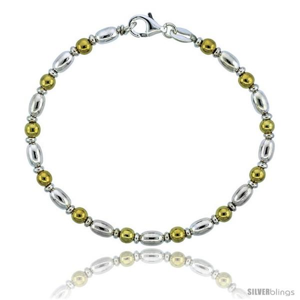 https://www.silverblings.com/82767-thickbox_default/sterling-silver-egg-shaped-oval-bead-bracelet-w-gold-finish-5-32-in-4-mm-wide-style-bg19.jpg