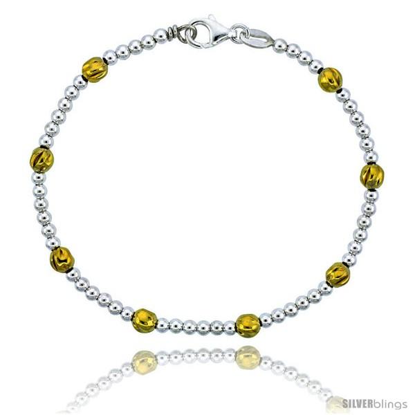 https://www.silverblings.com/82777-thickbox_default/sterling-silver-polished-bead-bracelet-w-gold-finish-3-16-in-5-mm-wide.jpg