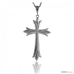 "Sterling Silver Cross Pendant, 4 5/16"" (109 mm) tall"