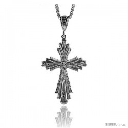 "Sterling Silver Cross Pendant, 2 11/16"" (68 mm) tall"