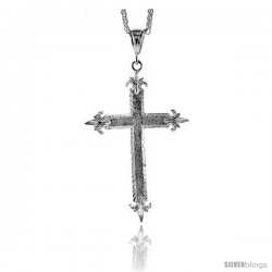 "Sterling Silver Cross Pendant, 3 9/16"" (91 mm) tall"