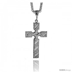 "Sterling Silver Cross Pendant, 1 15/16"" (49 mm) tall"