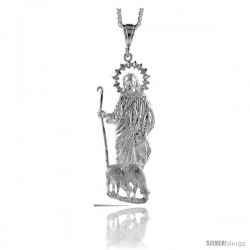 "Sterling Silver St. Lazarus Pendant, 4 1/8"" (106 mm) tall"