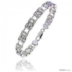 Sterling Silver Binario Bar Beaded Bracelet), 3/8 in. (10 mm) wide