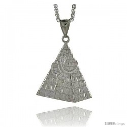 """Sterling Silver Pyramid Pendant, 1 15/16"""" (49 mm) tall"""