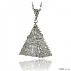 """Sterling Silver Pyramid Pendant, 2 11/16"""" (68 mm) tall"""