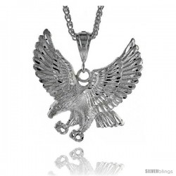 "Sterling Silver Eagle Pendant, 2 7/8"" (73 mm) tall"