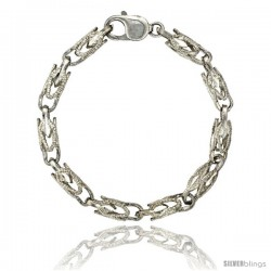 Sterling Silver Bullet Chain (Available in Different Lengths), 1/4 in. (6.5 mm) wide -Style Blc11