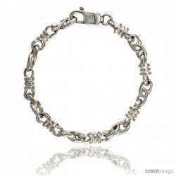 Sterling Silver Bullet Chain (Available in Different Lengths), 1/4 in. (6 mm) wide -Style Blc6