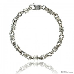 Sterling Silver Bullet Chain (Available in Different Lengths), 1/4 in. (6 mm) wide -Style Blc7