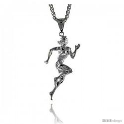 """Sterling Silver Runner Pendant, 2 3/16"""" (55 mm) tall"""