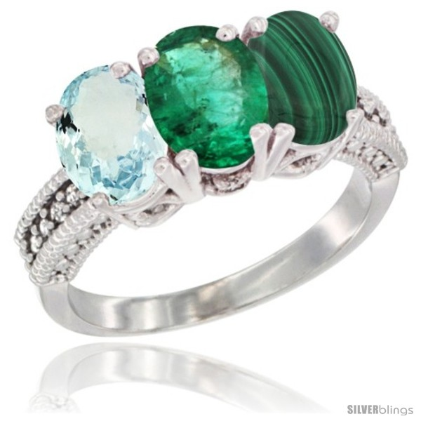 https://www.silverblings.com/84015-thickbox_default/10k-white-gold-natural-aquamarine-emerald-malachite-ring-3-stone-oval-7x5-mm-diamond-accent.jpg