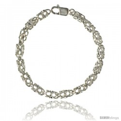 Sterling Silver Bullet Chain (Available in Different Lengths), 1/4 in. (6.5 mm) wide -Style Blc9