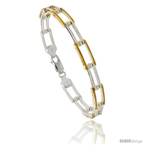 https://www.silverblings.com/84069-thickbox_default/sterling-silver-binario-bar-link-bracelet-w-gold-finish-1-4-in-7-mm-wide.jpg
