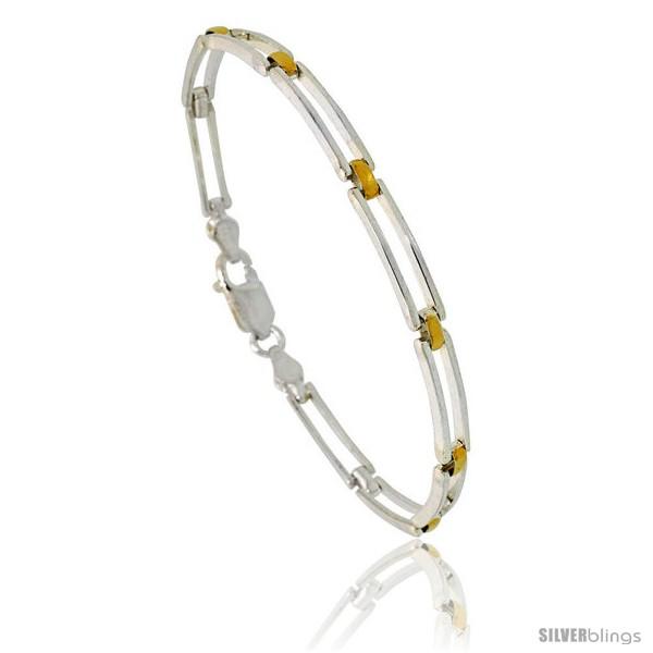 https://www.silverblings.com/84079-thickbox_default/sterling-silver-cut-out-bar-link-bracelet-w-gold-finish-3-16-in-4-5-mm-wide.jpg