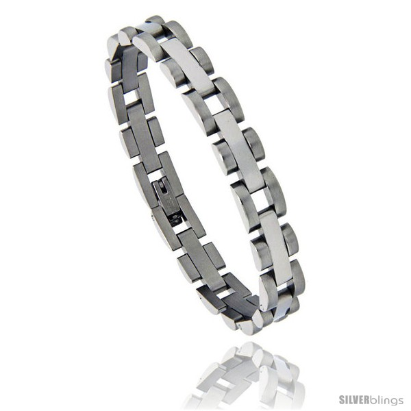 https://www.silverblings.com/842-thickbox_default/stainless-steel-polished-bar-link-satin-finish-edge-bracelet-5-16-in-wide-7-5-in-long.jpg