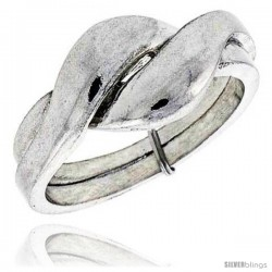 Sterling Silver 2-Piece Love Knot Puzzle Ring Band, 3/8 in. (9 mm) wide