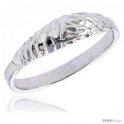 Sterling Silver Textured Half Round Baby Ring / Kid's Ring / Toe Ring (Available in Size 1 to 5)
