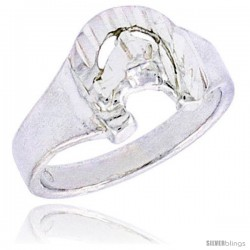 Sterling Silver Horse Shoe Baby Ring / Kid's Ring / Toe Ring (Available in Size 1 to 5)