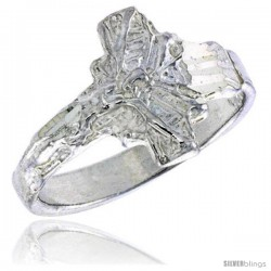 Sterling Silver Crucifix Baby Ring / Kid's Ring / Toe Ring (Available in Size 1 to 5)