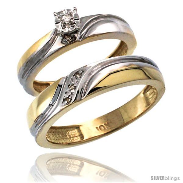https://www.silverblings.com/8458-thickbox_default/14k-gold-2-pc-diamond-ring-set-4mm-engagement-ring-5mm-mans-wedding-band-w-0-049-carat-brilliant-cut-diamonds.jpg