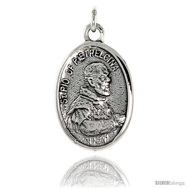 Sterling Silver St Pio of Pietrelcina Pendant