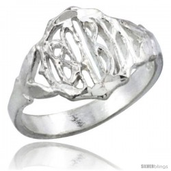 Sterling Silver Round Face Baby Ring / Kid's Ring / Toe Ring (Available in Size 1 to 5)