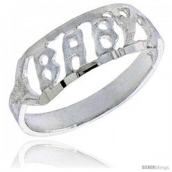 Sterling Silver Baby Ring / Kid's Ring / Toe Ring (Available in Size 1 to 5) -Style Br53
