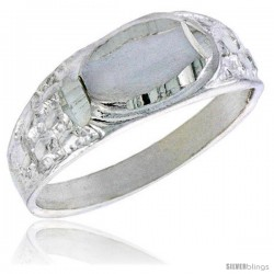 Sterling Silver Oval ID Baby Ring / Kid's Ring / Toe Ring (Available in Size 1 to 5)