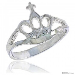 Sterling Silver Crown Baby Ring / Kid's Ring / Toe Ring (Available in Size 1 to 5)