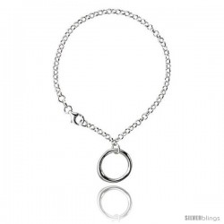 Sterling Silver Circle of Life Bracelet, 7 1/4 in long