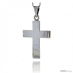 Sterling Silver Cross Pendant Highly Polished Handmade, 2 in