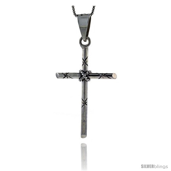 https://www.silverblings.com/85604-thickbox_default/sterling-silver-tubular-cross-pendant-handmade-1-3-4-in.jpg