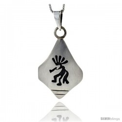Sterling Silver kokopelli Pendant (32x22 mm)