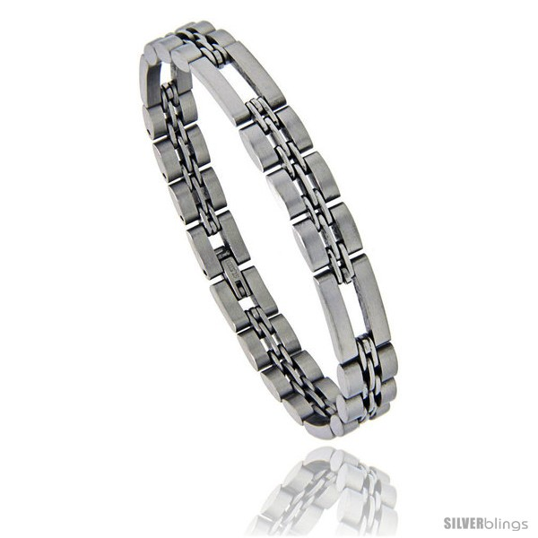 https://www.silverblings.com/860-thickbox_default/stainless-steel-31-basket-link-bracelet-satin-finish-3-8-in-wide-8-5-in-long.jpg