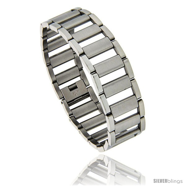 https://www.silverblings.com/862-thickbox_default/stainless-steel-satin-finish-center-railroad-link-bracelet-3-4-in-wide-8-25-in.jpg