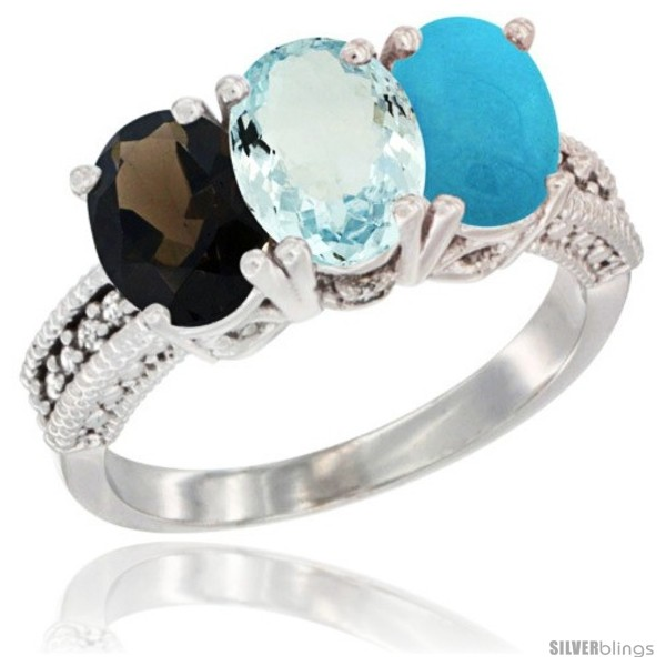 https://www.silverblings.com/86266-thickbox_default/10k-white-gold-natural-smoky-topaz-aquamarine-turquoise-ring-3-stone-oval-7x5-mm-diamond-accent.jpg