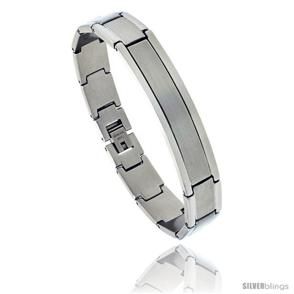 https://www.silverblings.com/864-thickbox_default/stainless-steel-satin-finish-center-id-bracelet-1-2-in-wide-8-in-long.jpg