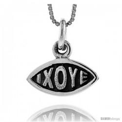 Sterling Silver XO Hugs & Kisses Eye-shaped Pendant, 3/4 in tall