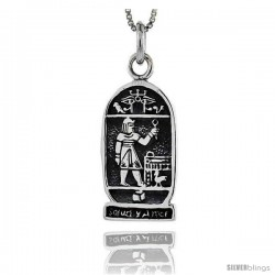 Sterling Silver Salud Y Amor Pendant, 1 1/8 in tall