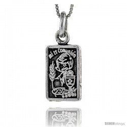 Sterling Silver Mi Primera Comunion (My First Communion) Pendant, 1 in tall -Style Px457