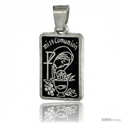Sterling Silver Mi Primera Comunion (My First Communion) Pendant, 1 in tall -Style Px511
