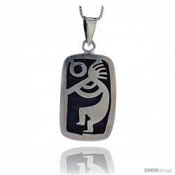 Sterling Silver kokopelli Pendant, 1 1/2 in tall -Style Pxj411