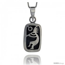 Sterling Silver kokopelli Pendant, 1 1/16 in tall