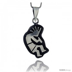 Sterling Silver kokopelli Pendant, 1 1/8 in tall